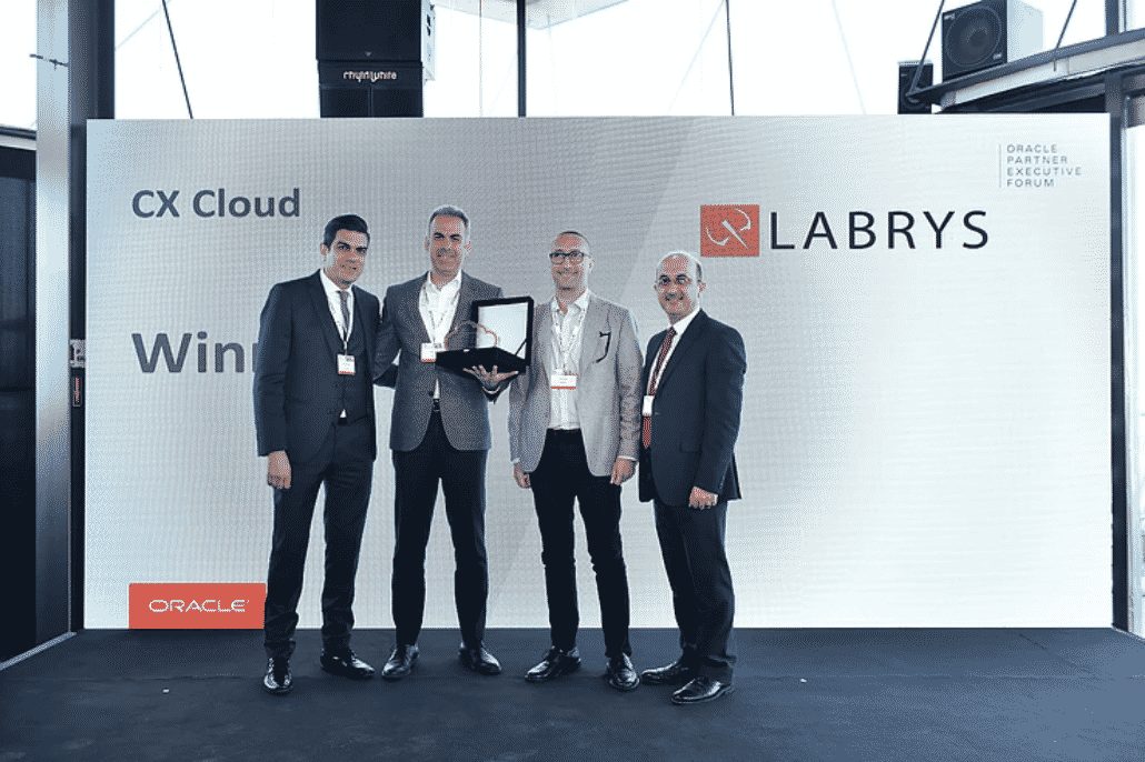 """Labrys Wins Oracle's """"CX Cloud Partner of the Year"""" Award 2019!"""